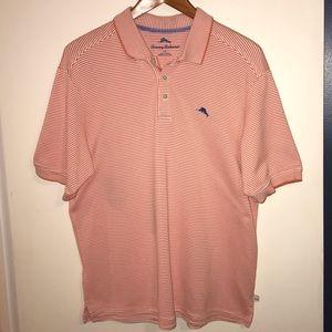 Men's Tommy Bahama orange Striped Polo